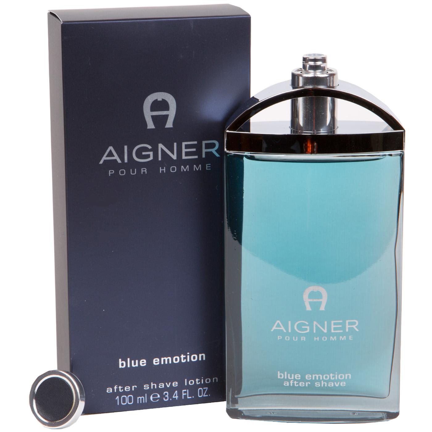 Kaufen glatt außergewöhnliche Farbpalette Aigner pour Homme blue emotion After Shave Lotion for man 100 ml ...