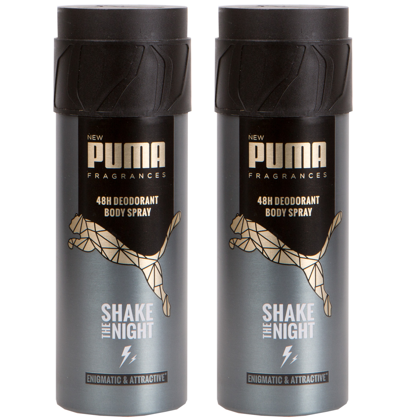 competitive price check out 100% quality Details about Puma 48H Deodorant Spray Body Spray Shake the Night 2 x 5,1oz  New