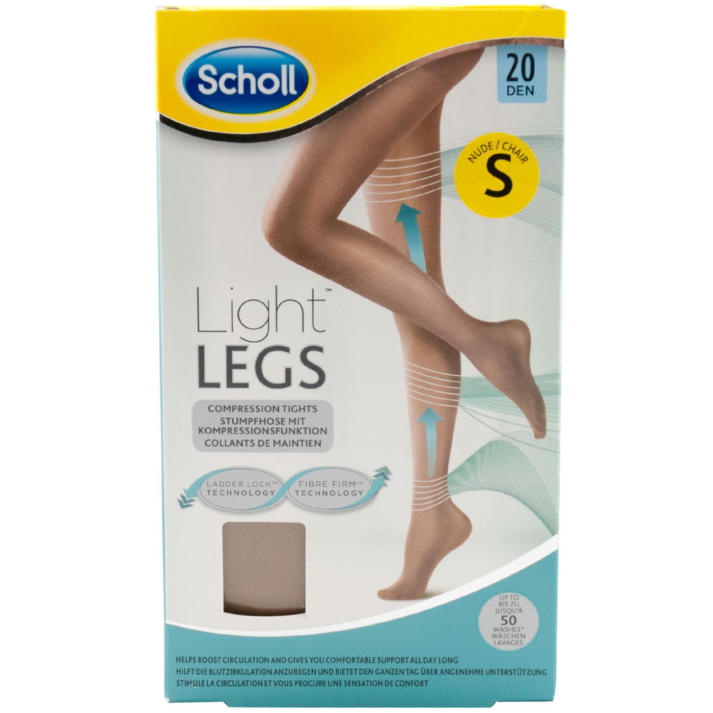 Indexbild 3 - Scholl LIGHT LEGS Strumphose mit Kompression Nude - Black 20,60 DEN Größe S